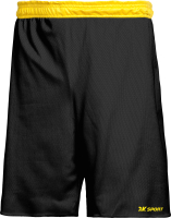 Шорты баскетбольные 2K Sport Training / 130063 (XL, черный/желтый) -