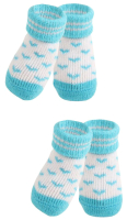 Носочки для животных Puppia Angel Heart / PAMD-SO073-SB-M (голубые сердечки) -