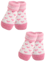 Носочки для животных Puppia Angel Heart / PAMD-SO073-PK-S (розовые сердечки) -