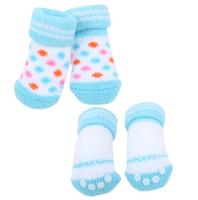 Носочки для животных Puppia Polka Dot II / PAOC-SO1269-SB-L (голубой) -