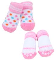 Носочки для животных Puppia Polka Dot II / PAOC-SO1269-PK-S (розовый) -