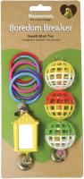 Игрушка для птиц Rosewood Набор-кольца, шары, домик с зеркалом и колокольчиком / 22050/RW -