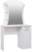 Туалетный столик с зеркалом Комфорт-S Гертруда M6 (белая лиственница/ясень жемчужный) -