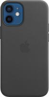 Чехол-накладка Apple Leather Case With MagSafe для iPhone 12 Mini Black / MHKA3 -