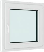 Окно ПВХ Rehau Elementis Kale Одностворчатое поворотно-откидное правое 2 стекла (600x600x60) -