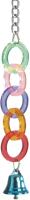Игрушка для птиц Beeztees Акриловая цепочка с колокольчиком / 10471 -