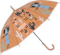 Зонт-трость Михи Михи Лама с кактусами / MM10426 (коричневый) -