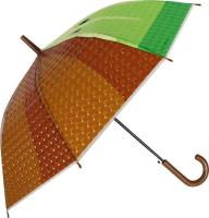 Зонт-трость Михи Михи Киви с 3D эффектом / MM10406 (коричневый) -