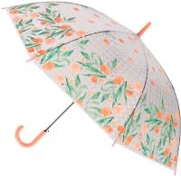 Зонт-трость Михи Михи Цветочки с 3D эффектом / MM10409 (оранжевый) -