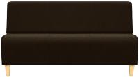 Диван Brioli Руди Д трехместный (J5/коричневый) -