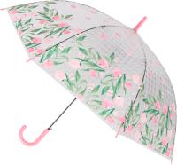 Зонт-трость Михи Михи Цветочки с 3D эффектом / MM10408 (розовый) -