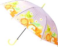 Зонт-трость Михи Михи Цветочки с 3D эффектом / MM10396 (желтый/большие цветы) -