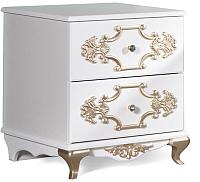 Прикроватная тумба Мебель-КМК Искушение 0402.3 (белый/золото) -