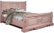 Двуспальная кровать Мебель-КМК 1600 Амелия 0435.13 (дуб молочный) -