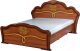 Двуспальная кровать Мебель-КМК 1600 Камелия 0468.1 (орех экко/патина золото) -
