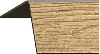 Уголок отделочный Rico Moulding 165 Дуб Коньячный с тиснением (30x30x2700) -