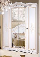 Шкаф Мебель-КМК 4Д Графиня 0523 (белый/патина золото) -