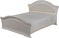 Двуспальная кровать Мебель-КМК Графиня 0379.2 (белый/патина золото) -