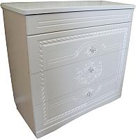 Комод Мебель-КМК Графиня 0379.3 (ясень жемчужный) -