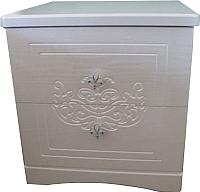 Прикроватная тумба Мебель-КМК Графиня 0379.4 (белый/патина золото) -