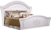 Двуспальная кровать Мебель-КМК Графиня 0379.10 (белый/патина золото) -