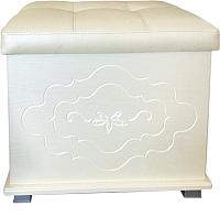 Пуф Мебель-КМК Жемчужина 0380.20 (венге светлый/ясень жемчужный) -