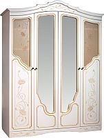 Шкаф Мебель-КМК 4Д Мелани 1 0434.1-01 (белый/патина золото) -