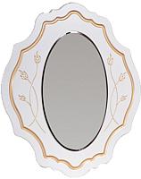 Зеркало интерьерное Мебель-КМК Мелани 1 0434.5-01 (белый/патина золото) -