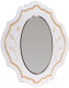 Зеркало Мебель-КМК Мелани 1 0434.5-01 (белый/патина золото) -
