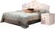 Двуспальная кровать Мебель-КМК 1600 Мелани 1 0434.6-01 (белый/патина золото) -