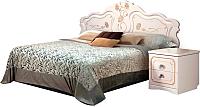 Двуспальная кровать Мебель-КМК 1600 Мелани 1 0434.6-01.1 (белый/патина золото) -