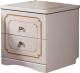 Прикроватная тумба Мебель-КМК Мелани 1 0434.9-01 (белый/патина золото) -