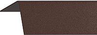 Уголок отделочный Rico Moulding 104 Шоколад с тиснением (40x40x2700) -