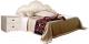 Двуспальная кровать Мебель-КМК 1600 Жемчужина 0380.2 (венге светлый/ясень жемчужный) -