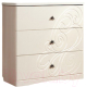 Комод Мебель-КМК Жемчужина 0380.3 (венге светлый/ясень жемчужный) -