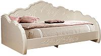 Кровать-тахта Мебель-КМК 900 Жемчужина 0380.9 (венге светлый/ясень жемчужный) -