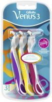 Набор бритвенных станков Gillette Simply Venus 3 Plus одноразовые (3шт) -