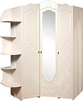 Шкаф Мебель-КМК Жемчужина 0380.13 угловой (венге светлый/ясень жемчужный) -