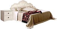 Полуторная кровать Мебель-КМК 1400 Жемчужина 0380.16 (венге светлый/ясень жемчужный) -