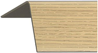 Уголок отделочный Rico Moulding 123 Дуб Золотистый с тиснением (40x40x2700) -