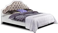Двуспальная кровать Мебель-КМК Искушение 2 0647 (белый/белый глянец/astra 5) -