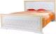 Двуспальная кровать Мебель-КМК 1600 Верона 0469.1 (белый/патина золото) -