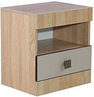 Прикроватная тумба Мебель-КМК Лондон 0467.3 (дуб сонома/капучино) -
