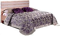 Двуспальная кровать Мебель-КМК 1600 Лондон 0467.19 (дуб сонома/капучино) -