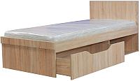 Односпальная кровать Мебель-КМК 900 Лондон 0467.18 правый (дуб сонома) -