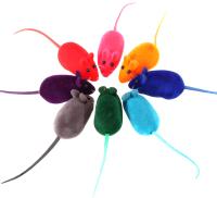 Набор игрушек для кошек For Friends Мышь велюровая / TUZ569 (20шт) -