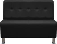 Диван Brioli Руди Р двухместный (L22/черный) -