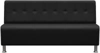 Диван Brioli Руди Р трехместный (L22/черный) -