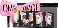 Набор косметики для лица Double Dare OMG SPA Маска 4шт + Кисть + Бант-повязка (нежно-розовый) -