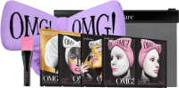 Набор косметики для лица Double Dare OMG SPA Маска 4шт + Кисть + Бант-повязка (лавандовый) -